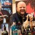 Uwe in seiner Bar 2016</br>